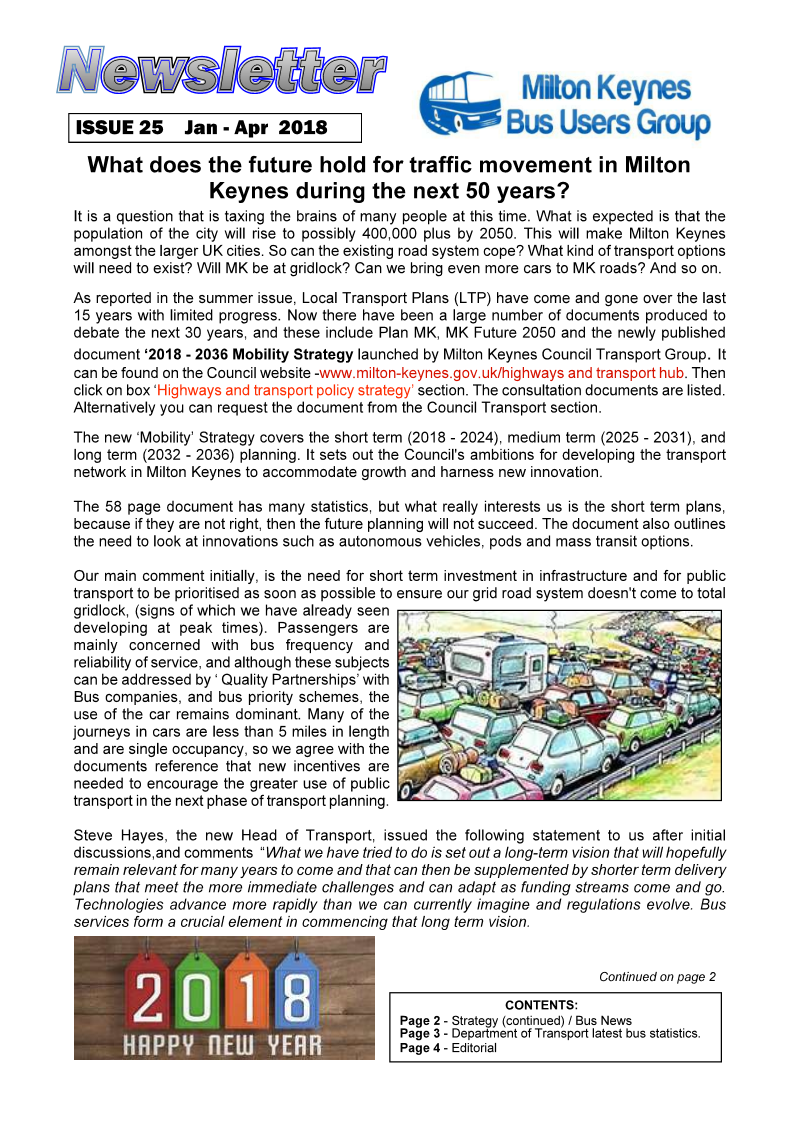 MK Bus Users Group January 2018 Newsletter – Old Woughton